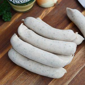 German bratwurst Nurnberger pre-cooked